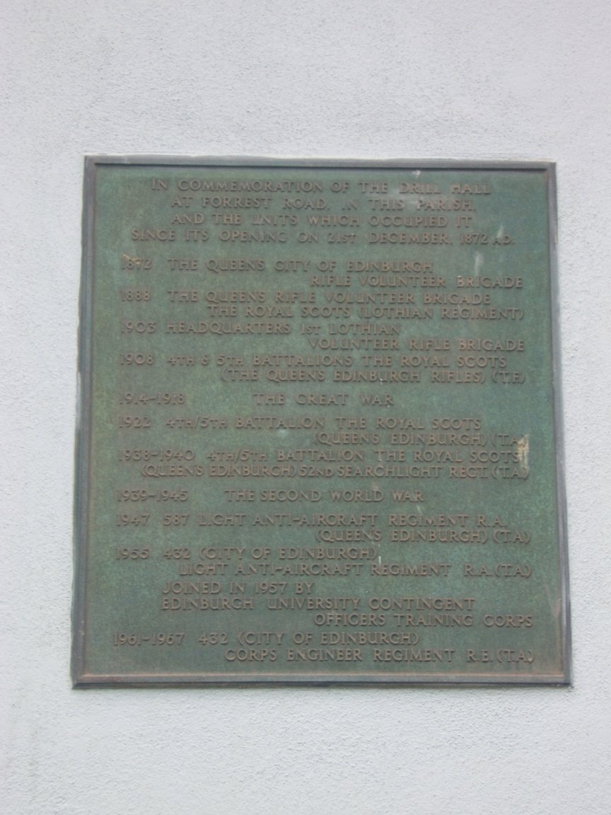 Plaque on the side of Greyfriars Kirk