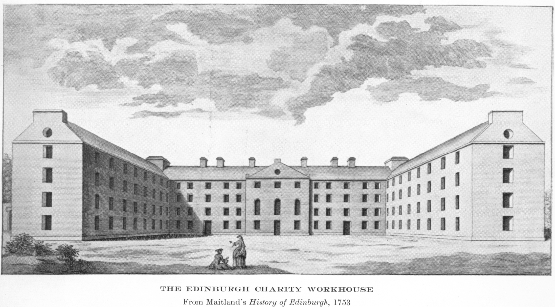 Maitland's engraving of the charity workhouse